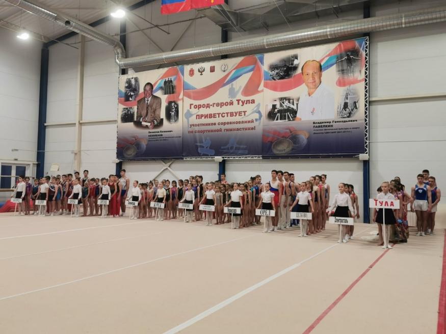 В Туле соревнуются гимнасты из регионов России