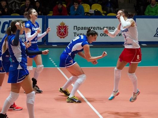 Волейболистки «Тулицы» уверенно обыграли команду «ЮЗГУ-Атом»