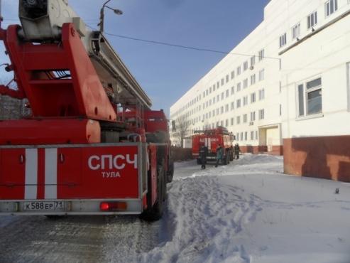 Вподвале тульского областного роддома произошел пожар